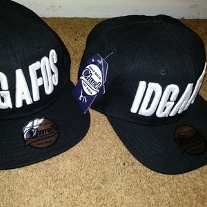 "2 Brand New ""IDGAFOS"" Snap Backs-Can Buy Separate"